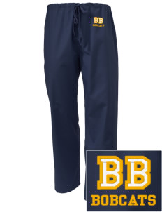 Buri Buri Elementary School Bobcats Embroidered Scrub Pants