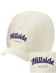 Hillside Elementary School Hawks Embroidered Knit Beanie with Visor