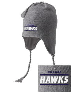 Hillside Elementary School Hawks Embroidered Knit Hat with Earflaps