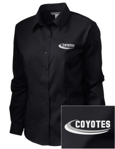 La Cuesta Continuation High School Coyotes  Embroidered Women's Long Sleeve Non-Iron Twill Shirt
