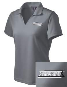 Leonora Fillmore Elementary School Mustangs Embroidered Women's Dri Mesh Polo