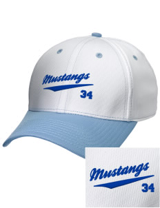 Leonora Fillmore Elementary School Mustangs Embroidered New Era Snapback Performance Mesh Contrast Bill Cap
