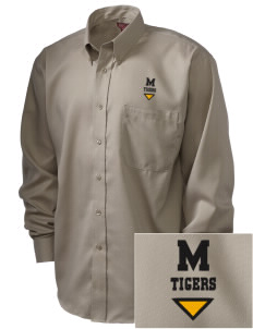 Morrill Middle School Tigers  Embroidered Men's Nailhead Non-Iron Button-Down
