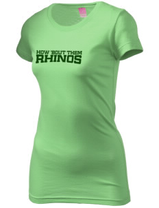 Samuel Curtis Rogers Middle School Rhinos  Juniors' Fine Jersey Longer Length T-Shirt