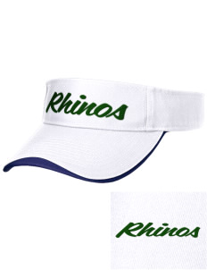 Samuel Curtis Rogers Middle School Rhinos Embroidered Binding Visor