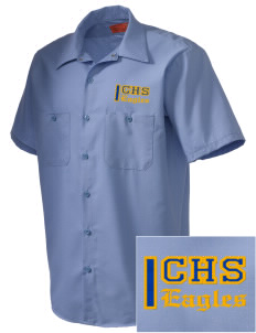 Central Continuation High School Eagles Embroidered Men's Cornerstone Industrial Short Sleeve Work Shirt