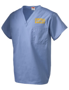 Central Continuation High School Eagles V-Neck Scrub Top