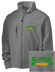 De Laveaga Elementary School Dragons Embroidered Men's Soft Shell Jacket