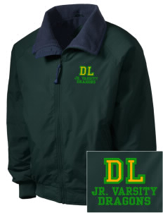De Laveaga Elementary School Dragons Embroidered Men's Fleece-Lined Jacket