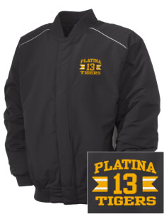 Platina Elementary School Tigers Embroidered Russell Men's Baseball Jacket