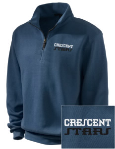 Crescent Elementary School Stars Embroidered Men's 1/4-Zip Sweatshirt