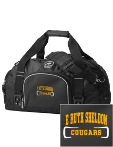 E Ruth Sheldon Elementary School Cougars  Embroidered OGIO Big Dome Duffel Bag