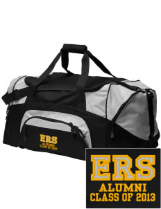 E Ruth Sheldon Elementary School Cougars Embroidered Colorblock Duffel Bag