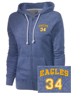 Cloverdale High School Eagles Embroidered Women's Marled Full-Zip Hooded Sweatshirt