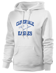 Cloverdale High School Eagles Russell Women's Pro Cotton Fleece Hooded Sweatshirt