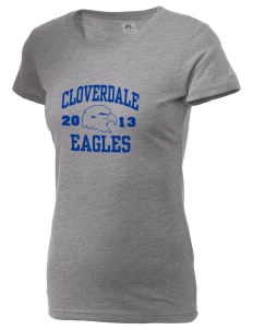 Cloverdale High School Eagles  Russell Women's Campus T-Shirt