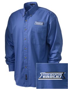 Fitch Mountain Primary School Eagles Embroidered Men's Twill Shirt