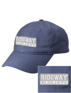 Ridgway School Bluejays  Embroidered New Era Adjustable Unstructured Cap