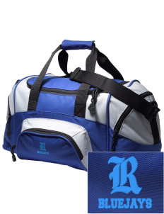 Ridgway School Bluejays Embroidered Small Colorblock Duffel