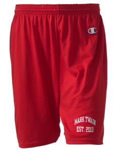 "Mark Twain Junior High School Panthers  Champion Women's Gym Shorts, 6"" Inseam"