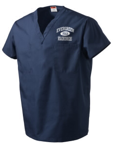 Evergreen Elementary School Roadrunners V-Neck Scrub Top