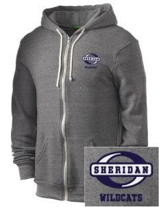 Sheridan Middle School Wildcats Embroidered Alternative Men's Rocky Zip Hooded Sweatshirt