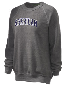 Sheridan Middle School Wildcats Unisex Alternative Eco-Fleece Raglan Sweatshirt