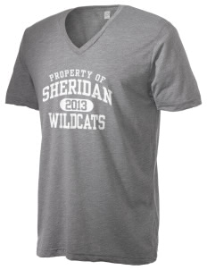 Sheridan Middle School Wildcats Alternative Men's 3.7 oz Basic V-Neck T-Shirt