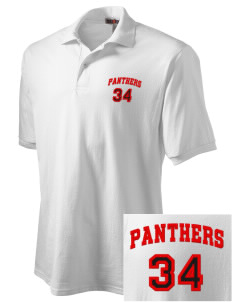 Flood Middle School Panthers Embroidered Men's Jersey Polo