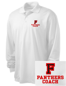 Flood Middle School Panthers Embroidered Men's Long Sleeve Micropique Sport-Wick Sport Shirt
