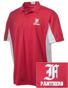 Flood Middle School Panthers Embroidered Men's Side Blocked Micro Pique Polo