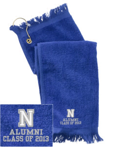 Nederland Elementary School Panthers  Embroidered Grommeted Finger Tip Towel