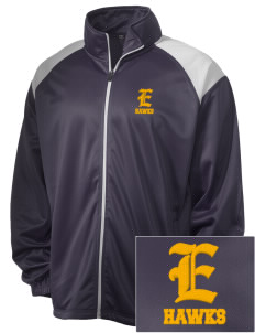 Explorer Elementary School Hawks Embroidered Men's Tricot Track Jacket