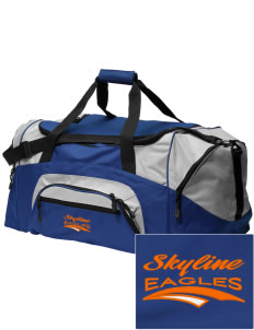 Skyline Elementary School Eagles Embroidered Colorblock Duffel Bag