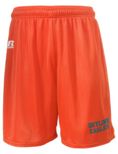 "Skyline Elementary School Eagles  Russell Men's Mesh Shorts, 7"" Inseam"