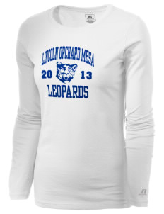 Lincoln Orchard Mesa Elementary School Leopards  Russell Women's Long Sleeve Campus T-Shirt