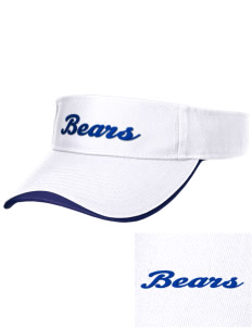 Elizabeth M Bennet Middle School Bears Embroidered Binding Visor
