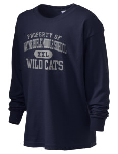 Wayne Ruble Middle Sdhool Wild Cats Kid's 6.1 oz Long Sleeve Ultra Cotton T-Shirt