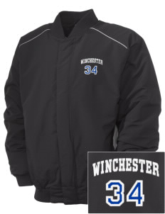 Winchester Alternative High School Winsted Embroidered Russell Men's Baseball Jacket