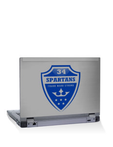 "Frank Ward Strong Middle School Spartans 15"" Laptop Skin"