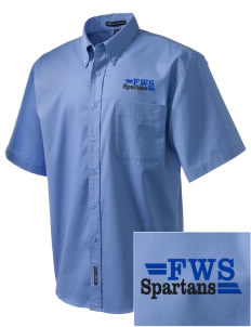 Frank Ward Strong Middle School Spartans Embroidered Men's Easy Care Shirt