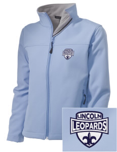 Lincoln Middle School Leopards Embroidered Women's Soft Shell Jacket