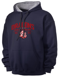 William Seely Elementary School Dragons Men's 7.75 oz Contrast Hooded Sweatshirt