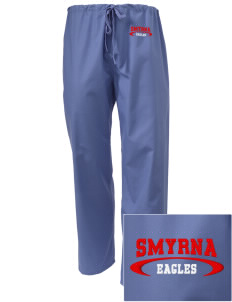 Smyrna Elementary School Eagles Embroidered Scrub Pants