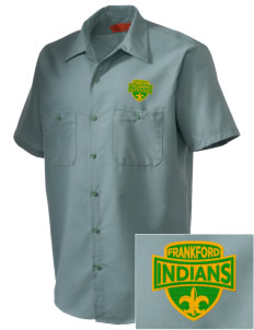 Frankford Elementary School Indians Embroidered Men's Cornerstone Industrial Short Sleeve Work Shirt