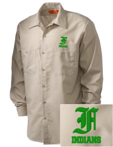 Frankford Elementary School Indians Embroidered Men's Industrial Work Shirt - Regular