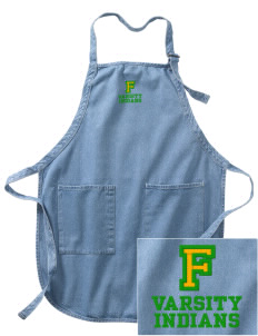 Frankford Elementary School Indians Embroidered Full-Length Apron with Pockets