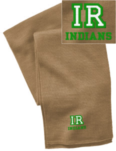 Indian River High School Indians  Embroidered Knitted Scarf