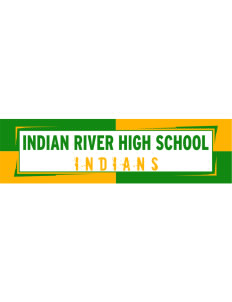"Indian River High School Indians Bumper Sticker 11"" x 3"""