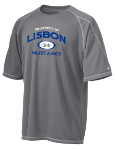 Lisbon Elementary School Mustangs Champion Men's 4.1 oz Double Dry Odor Resistance T-Shirt